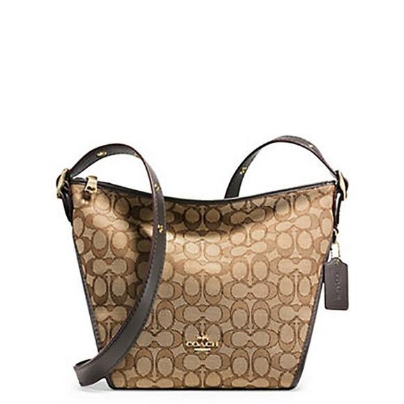 COACH Handbags - COACH Dufflette in Signature Khaki/Brown